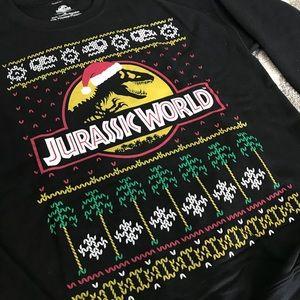 Jurassic Park Ugly Christmas Sweater Print Sweatshirt T